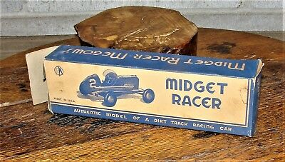 Old Wooden Kit Car Midget Racer by Megow's  Dirt Track Racing Car