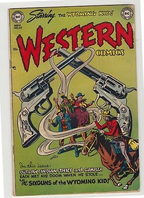 "Western Comics #29 - November 1951 - ""The Sixguns of the Wyoming Kid!"""