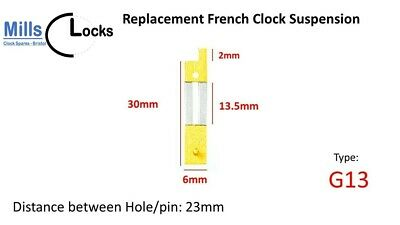 French Clock Pendulum Suspension Spring. (30mm x 13.5mm x 6mm)  (Type G13)