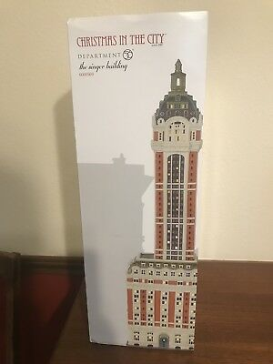 Dept 56 Christmas in the City The Singer Building NIB