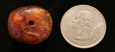 Rare Antique Real Natural Amber African Trade Bead Collected Mauritania, Africa