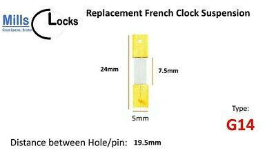 French Clock Pendulum Suspension Spring. (22.5mm x 10mm x 5mm)  (Type G14)