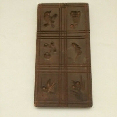Antique Hand Carved Wood Cookie Mold 6 Springerle