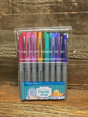 Paper Mate Flair Felt Tip Pens, 16 Count Colors, Limited Edition Candy Pop