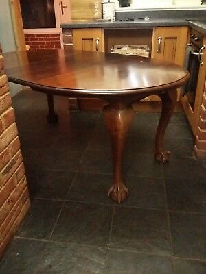 Antique claw and ball table