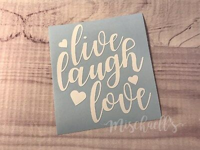 FITS YETI RTIC Hogg Live Laugh Love Vinyl Decal Sticker