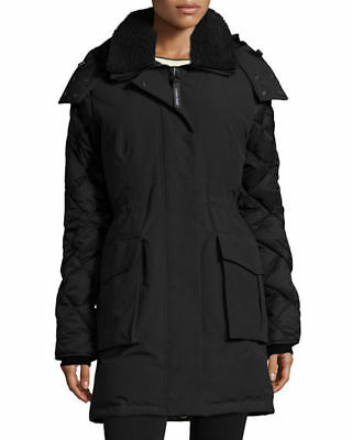 4186a7d8bef8 NEW  525 CANADA GOOSE KIDS  Rundle  Down Bomber Jacket with Genuine ...
