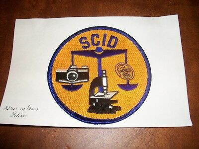 New Orleans Louisiana Scid Police Patch New