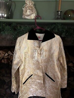 Japanese Silk Brocade1950's Dinner Jacket/Matching Bag