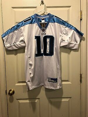 Vince Young - Tennessee Titans Authentic Rd Jersey Sz 48 White  10 NFL  Reebok 83298a944