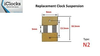 Clock Pendulum Suspension Spring (18.5mm x 5mm x 9mm) (Type N2) UK Seller