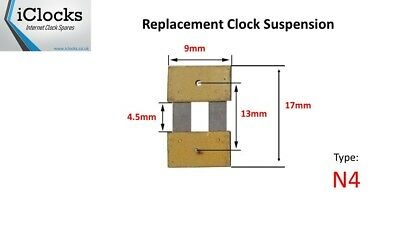 Clock Pendulum Suspension Spring (17mm x 4.5mm x 9mm) (Type N4) UK Seller