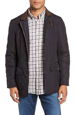 NEW Barbour Men's Lutz Quilted Jacket in Navy - Size L