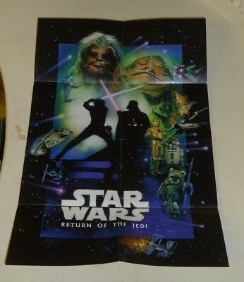 STAR WARS Movie Poster Cereal Exclusive Prize RETURN OF THE JEDI Trix Cheerios