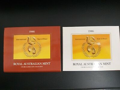 1986 International Year Of Peace Royal Australian Mint Uncirculated Coin Set