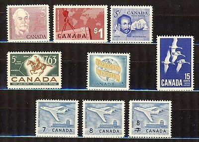 1964 #410/#436 5¢ -$1.00 Commemoratives Including #411 $1.00 Crane And Map Vfnh