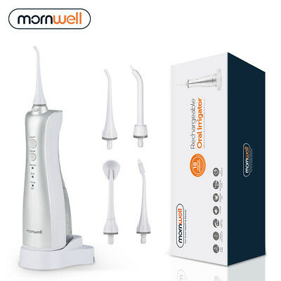 Mornwell Portable Water Flosser Rechargeable Cordless Oral Irrigator 150ml