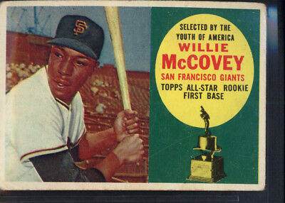 1960 Topps #316 Willie McCovey Giants (GD) *690283