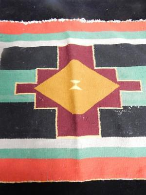 Antique / Vintage Navajo Indian Germantown Rug - 7 Colors - Dynamic Dsgn -Early
