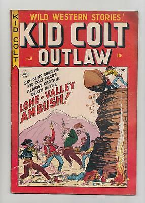 Kid Colt Outlaw #8 Canadian Edition (Superior Publishers 1949) GD+ 2.5