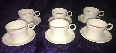 Japan Airlines Bone China By Noritake Set Of 6 Cup And Saucer Sets