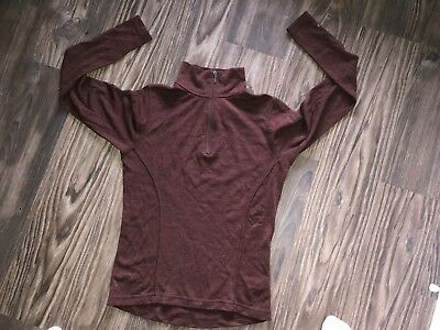 Smartwool top size small S 1/3 zip front NICE!