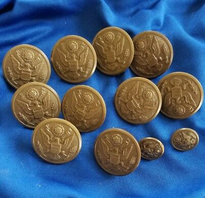 Original Wwii Us Army Bakelite Buttons Lot