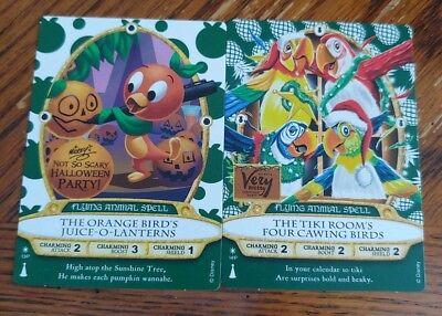 Sorcerers of the Magic Kingdom 2018 Halloween Party and Christmas Party Cards