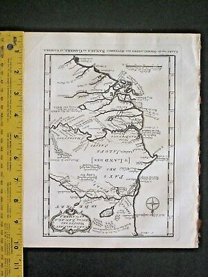 Map of the lands by the rivers Sanaga&Gambra,Africa,Engrav.ca.1747