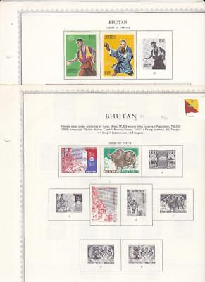 Small Mint Bhutan Collection On Minkus Album Pages - SEE!!!
