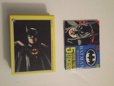Complete Set (66) 1992 Topps Batman Returns Sticker Set  w/1 wrapper