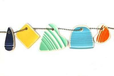 DVH Recycled Fiesta Sea Glass 5 pc. Dangle set (size varies) (1341)