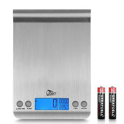 Digital Kitchen Scale Ultra Slim Multifunction Stainless Steel Food Scale 11lb/5