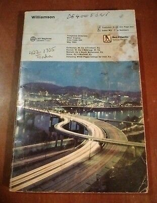 Williamson WV 1986 C&P Telephone Directory Phone Book Matewan Kermit Inez KY