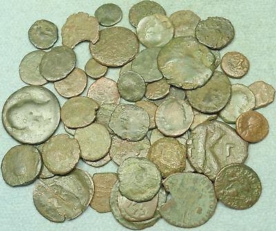 Lot Of 50+ Roman Bronze Coins