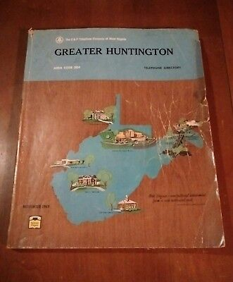 Huntington WV 1969 C&P Telephone Directory Phone Book Kenova Ceredo Prichard