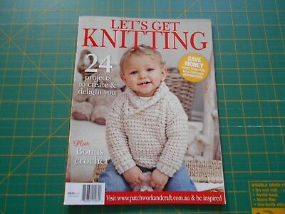 Let's Get Knitting Magazine - 24 Projects - Good Condition -