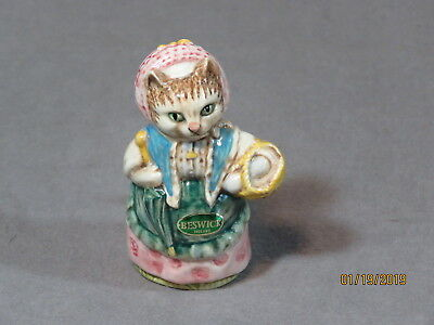 Excellent Beswick England Beatrix Potter *cousin Ribby* Figurine! Gold Backstamp