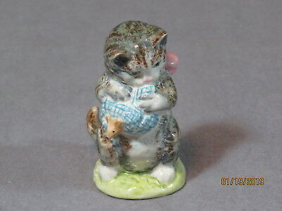 Exclt Beswick England Beatrix Potter * Miss Moppet* Figurine! Gold Backstamp