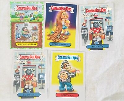 Lot of 5 Topps Garbage Pail Kids Cards - Americana Swept Under the Rug Series