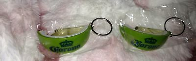 Lot of 2 Corona Lime Shaped bottle opener/key chain