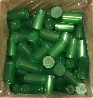 50 Pc 19 Dram Pop Top Bottle Green Child Resistant Prescription Herb Container