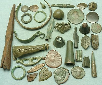 Lot Of Misc. Ancient Bronze / Iron / Silver Artifacts