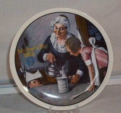 1982 Norman Rockwell Mothers Day Knowles Collectors Plate