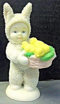 Dept 56 Snowbunnies Snowbabies  A Basket of Joy Baby  Easter Chicks New in Box