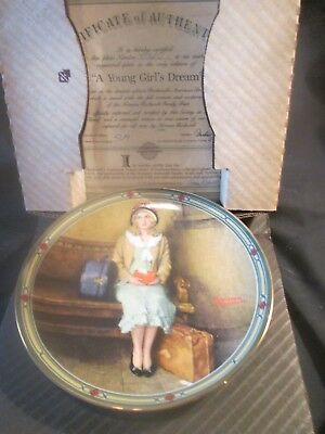"""Norman Rockwell """"A Young Girls Dream"""" Collector Plate"""