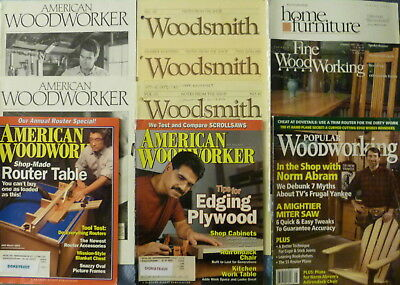 15 AMERICAN WOODWORKER MAGAZINES WOODSMITH NEWSLETTERS  FINE WOODWORKING &  more