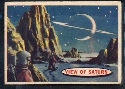 1957 Topps Space Cards #83 View Of Saturn (VG/EX) *689721