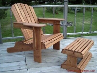 ADIRONDACK CHAIR & OTTOMAN Woodworking Plan Wood Plans Full Size Patterns