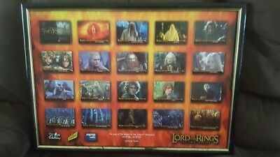 Lord of the Rings Return of the King Collectors cards framed set 2003